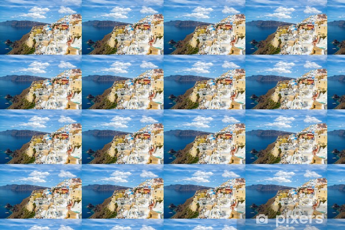 Gorgeous View Of The Oia Village Oia Santorini Island Greece Wallpaper Vinyl Custom Made