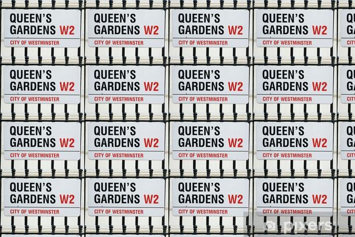 Tapeta na wymiar winylowa Ogrody Queens W2 słynną London Street - Miasta europejskie