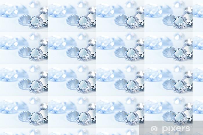 Vinylová tapeta na míru Bílé diamanty na modrém pozadí - Prvky podnikání