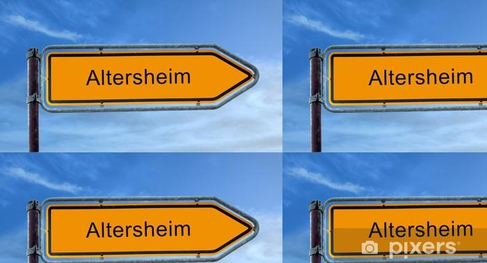 Vinylová Tapeta Straßenschild 8 - Altersheim - Pozadí