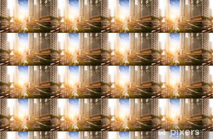 Papier peint vinyle sur mesure Le coucher de soleil les routes achalandées des grandes villes - Paysages urbains