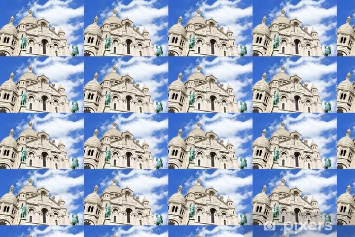 Papier peint vinyle sur mesure Basilique du Sacré-Coeur (Basilique du Sacré-Coeur), Paris - Villes européennes