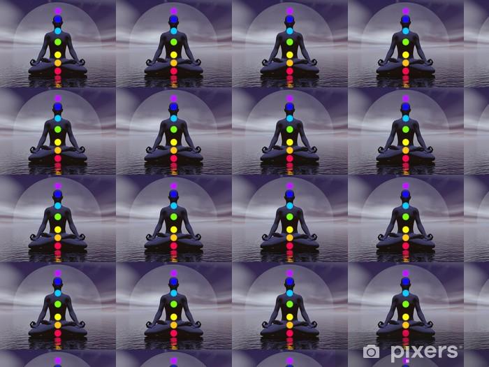 Chakras at night- 3D render Vinyl custom-made wallpaper - Buddhism