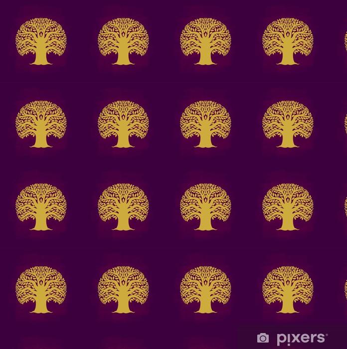 Papier peint vinyle sur mesure Symbole de l'arbre type de l'Asie, illustration vectorielle - Signes et symboles