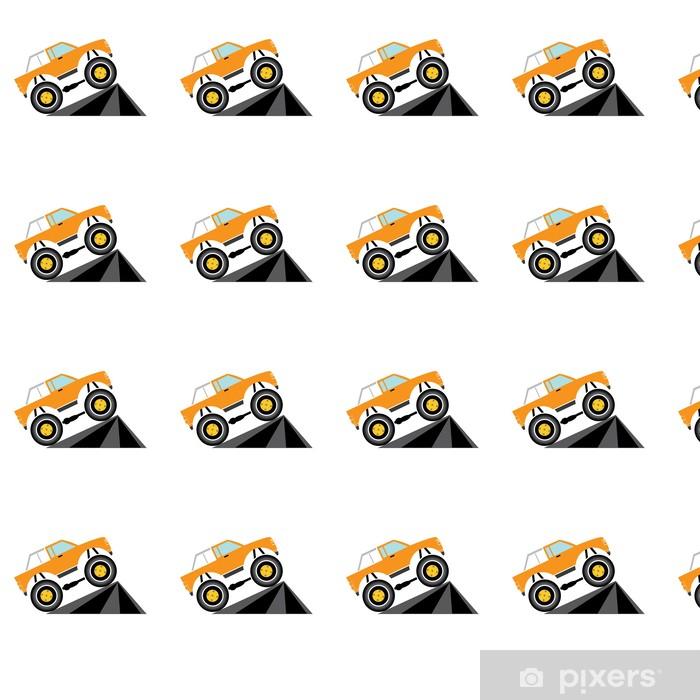 Tapeta na wymiar winylowa Wektor cartoon monster truck - Transport drogowy