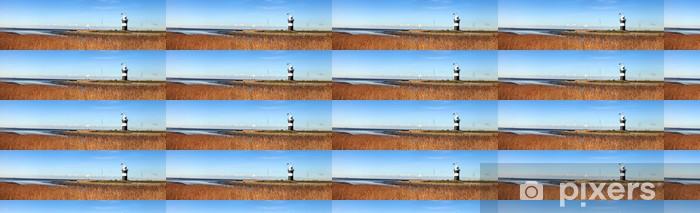 Papier peint vinyle sur mesure Panorama mit Leuchtturm - Europe