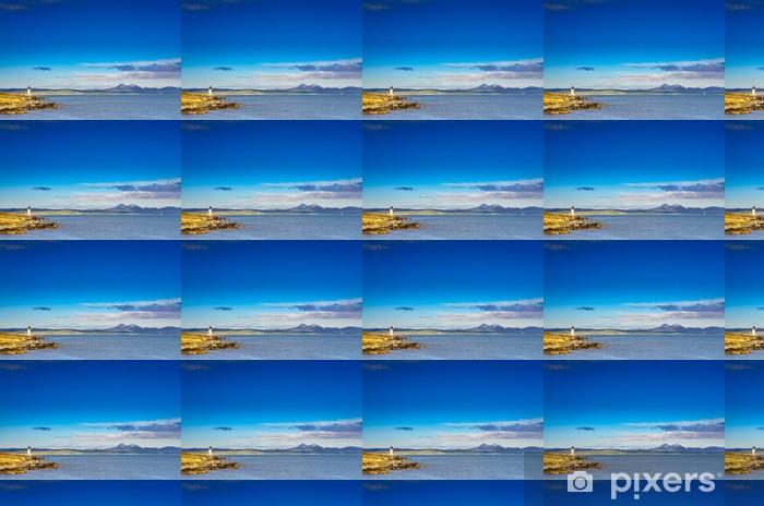 Tapeta na wymiar winylowa Oceanu wybrzeżu latarni w Port Charlotte, Szkocji - Infrastruktura