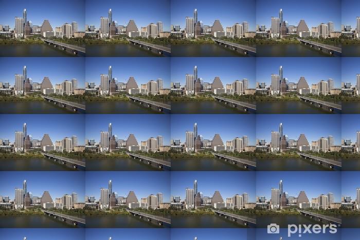 Papier peint vinyle sur mesure Une vue de la Skyline Austin à Sunny Day au Texas - Amérique