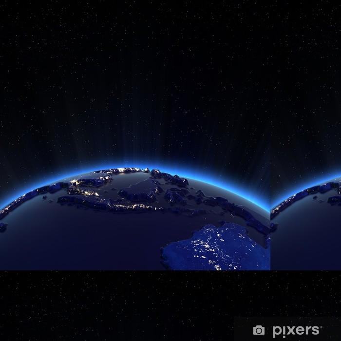 Vinylová Tapeta Jihovýchodní Asie světla města v noci - Meziplanetární prostor