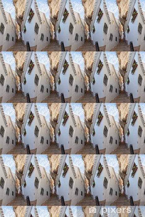 Tapeta na wymiar winylowa Widok z ulicy między skałami w Setenil de las Bodegas, Hiszpania - Pejzaż miejski