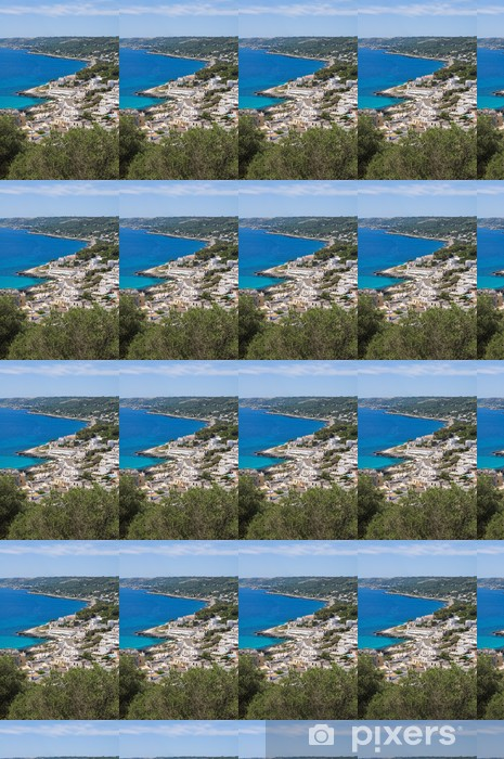 Papel pintado estándar a medida Vista panorámica de Castro. Puglia. Italia. - Vacaciones