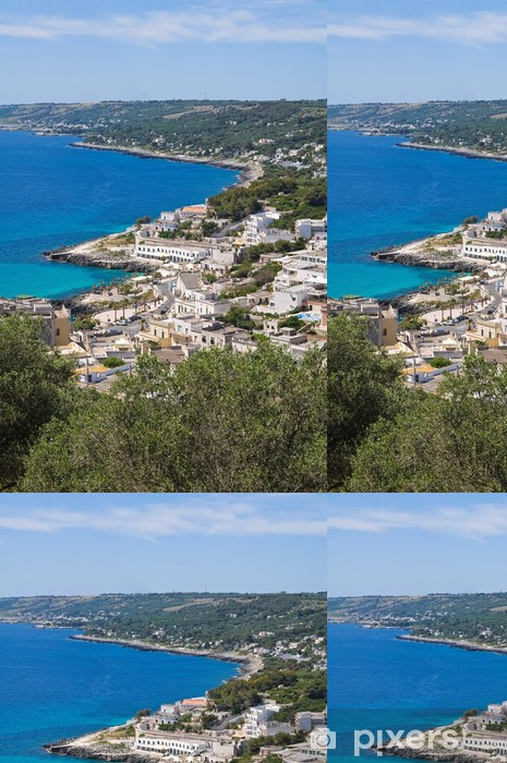 Vinyltapet Panoramautsikt over Castro. Puglia. Italia. - Ferie og Høytid
