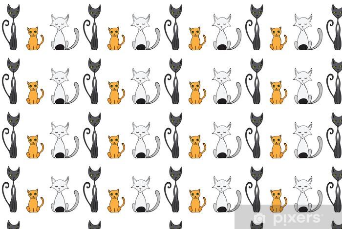 Vinylová tapeta na míru Cartoon kočky ilustrace - Savci