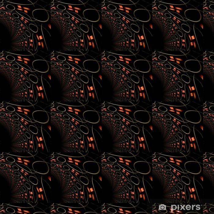 Papier peint vinyle sur mesure Tunel d'abstraction fractale, illustration numérique pour la bannière créative - Abstrait