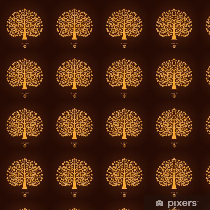 Vinylová tapeta na míru Golden Bodhi strom symbol, vektorové ilustrace - Životní styl, péče o tělo a krása