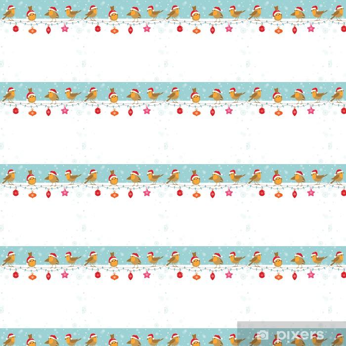 Christmas birds Vinyl Custom-made Wallpaper - International Celebrations