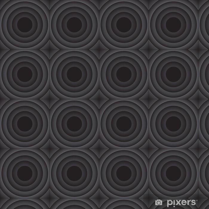 Papel pintado estándar a medida Fondo abstracto del vector con las rondas de negro - Abstractos
