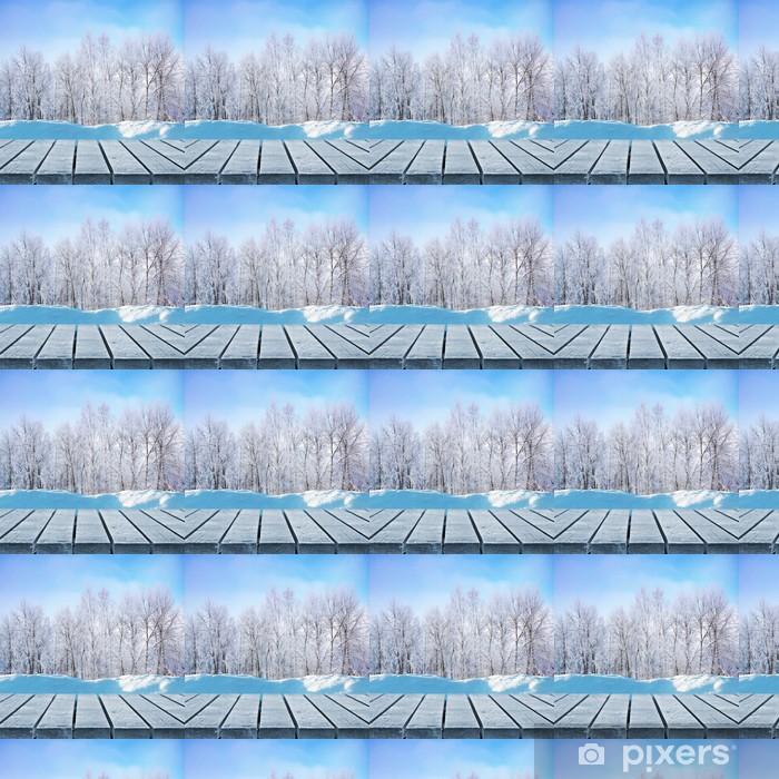 Vinyltapete nach Maß Winter-Laufsteg - Texturen