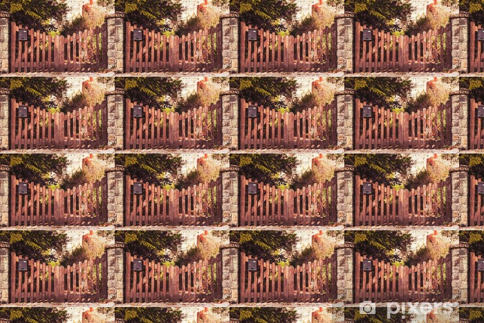 Papier peint vinyle sur mesure Clôture en bois - Paysages urbains