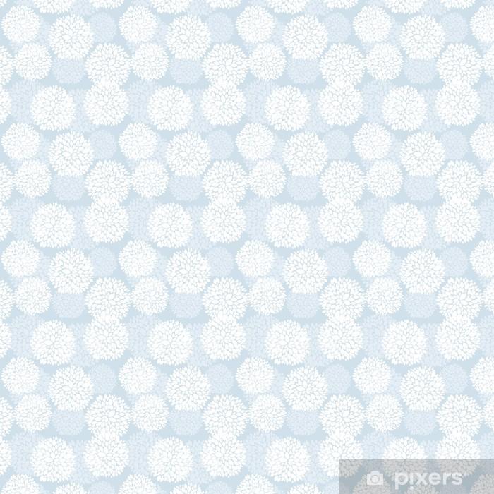 Vinylová tapeta na míru Roztomilý jedinečné květinové karty v modré a bílé barvě pro zimní dovolenou - Mezinárodní svátky
