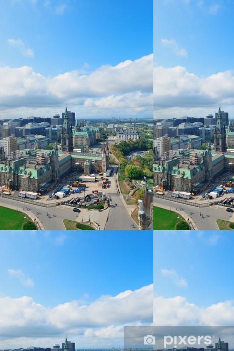 Vinylová Tapeta Ottawa panoramatický výhled na město s historickými budovami - Jiné