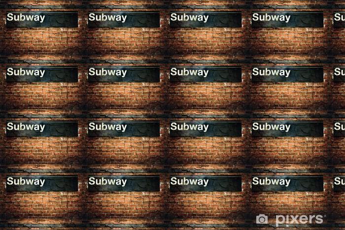Vinylová tapeta na míru NYC Subway znamení s texturou - Americká města