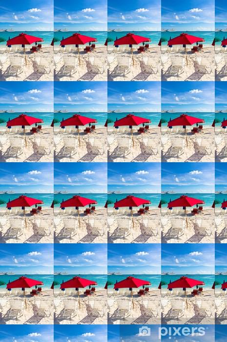 Papier peint vinyle sur mesure Belle plage de Philipsburg, Saint-Martin, les îles des Caraïbes - Amérique
