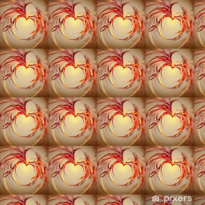 Vinylová tapeta na míru Abstraktní srdce - Abstraktní