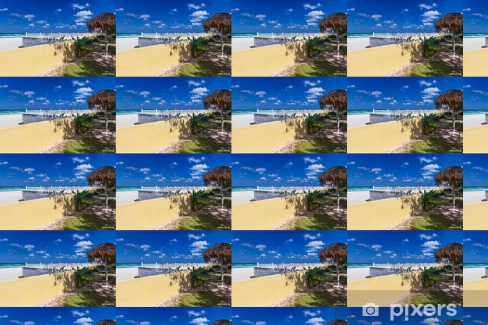 Tapeta na wymiar winylowa Ogrodzenie na plaży - Woda