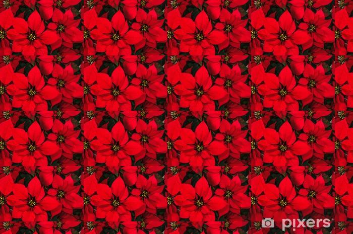Papier peint vinyle sur mesure Fleur de poinsettia - Fêtes internationales