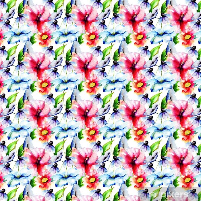 Tapeta na wymiar winylowa Piękne kwiaty, malarstwo akwarela - Kwiaty
