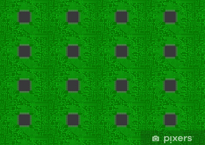 chip electronic Vinyl custom-made wallpaper - Electronic