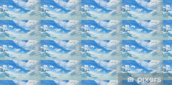 Papier peint vinyle sur mesure Nuages dans le ciel bleu - Thèmes