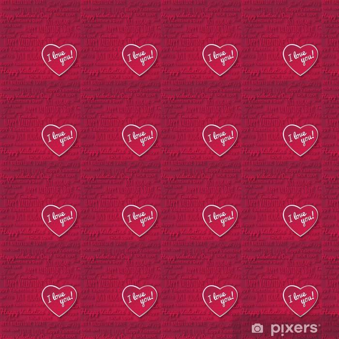 Tapeta na wymiar winylowa Czerwonym tle z serca i czerwone valentine tekst życzeń, wektor - Święta międzynarodowe