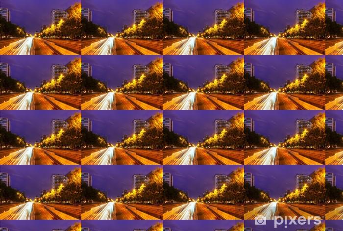 Vinylová tapeta na míru Paseo de la Castellana v noci. Madrid - Evropská města