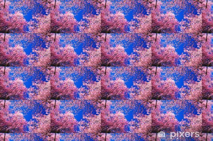 Vinylová tapeta na míru Růžová Sakura Cherry Blossom květiny v jarní sezóny - Témata