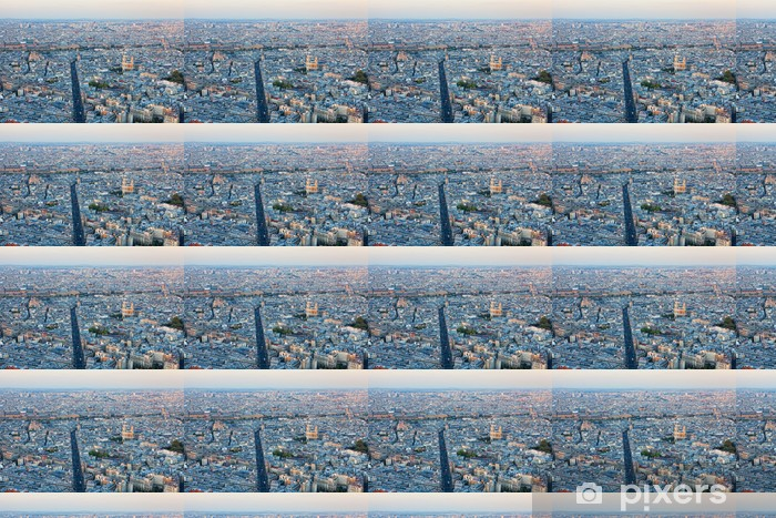 Aerial view of Paris Vinyl custom-made wallpaper - Other Other