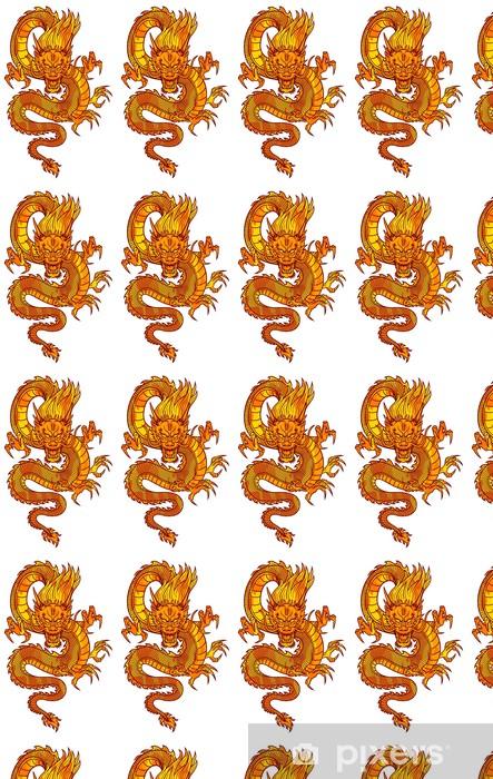 Fire Chinese Dragon Wallpaper Vinyl Custom Made