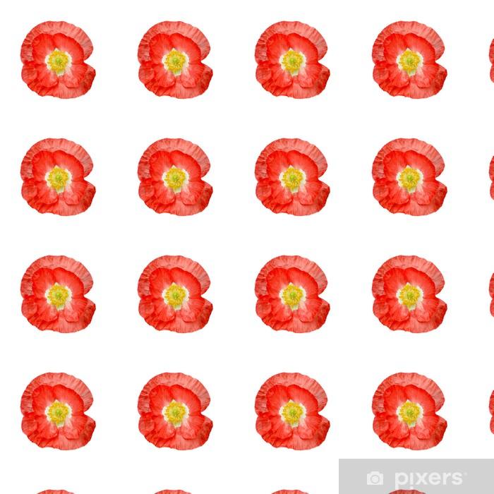 Vinylová tapeta na míru Mák červená se žlutými tyčinkami - Květiny