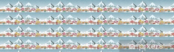 Papel pintado estándar a medida Pequeño pueblo en los Alpes - Artes y creación