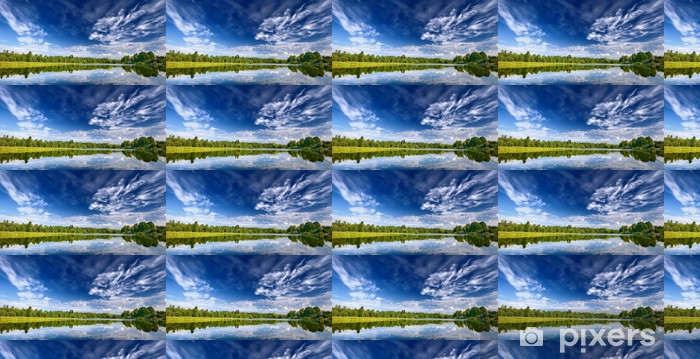 Tapeta na wymiar winylowa Jezioro krajobraz z pięknym refleksji z nieba - Woda