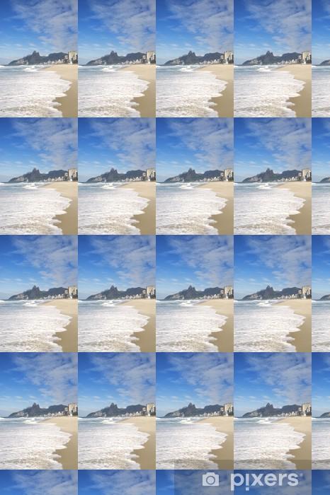Vinyl behang, op maat gemaakt Rio de Janeiro Ipanema Beach Two Brothers Mountain Brazilië - Amerikaanse steden