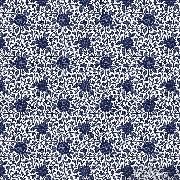 Zelfklevend behang, op maat gemaakt Naadloze chinese patroon - Achtergrond