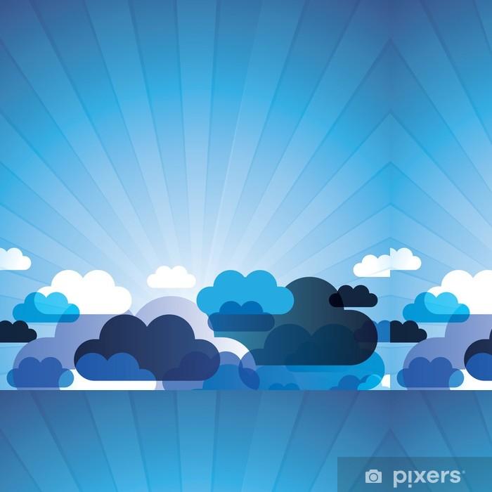 Vinylová Tapeta Pozadí abstraktní mraky Vector - Témata