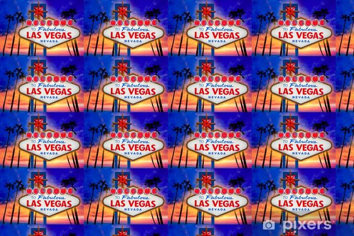 Papier peint vinyle sur mesure Signe fabuleux coucher de soleil de Las Vegas Bienvenue palmiers Nevada - Las Vegas