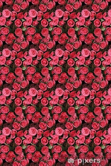 Vinyltapete nach Maß Skimmia und rosa Rosen Braut Anordnung - Feste