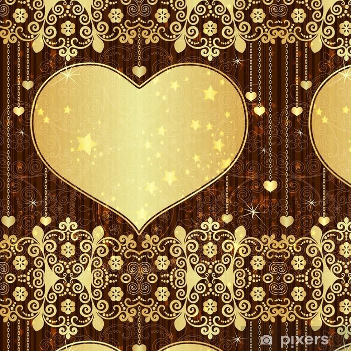 Vinylová Tapeta Vintage zlaté valentine rám - Mezinárodní svátky