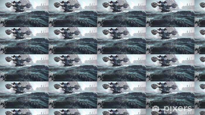 Vinylová tapeta na míru Sci-fi scenérie 3d ilustrace - Čas