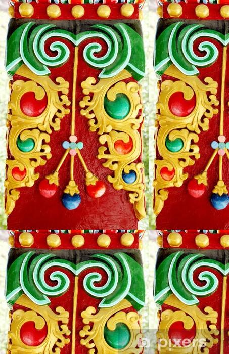 Papel de Parede em Vinil Sculpture & painting near Hemis Monastery - Religião