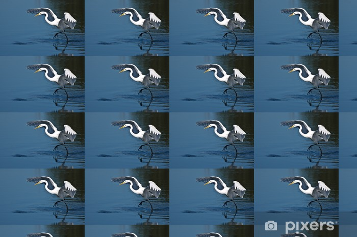Vinyltapete nach Maß Silberreiher, die in Flug - Vögel